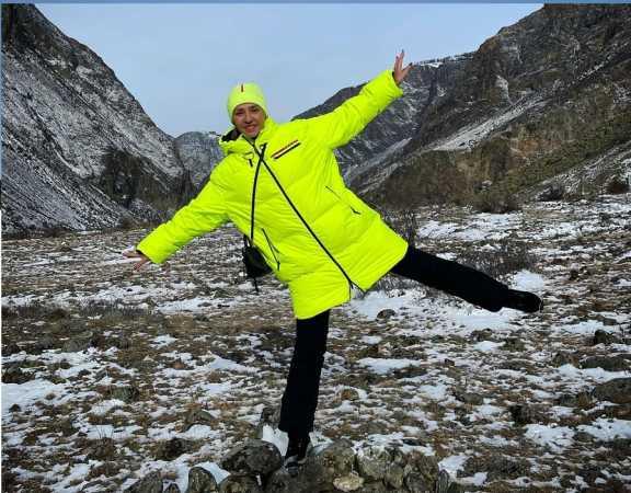 Олимпийская чемпионка Татьяна Навка приехал на отдых в Республику Алтай