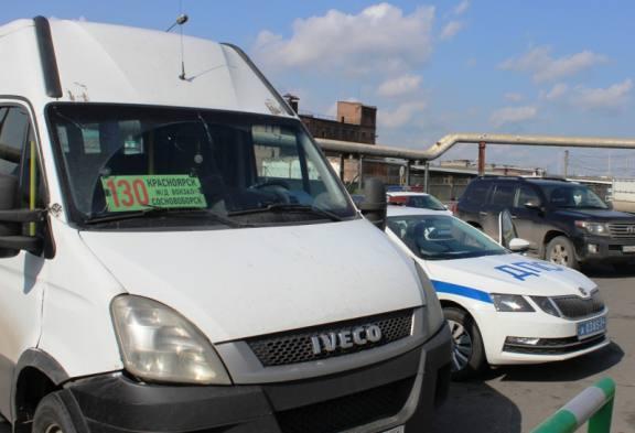 В Красноярске поймали пьяного водителя междугороднего автобуса